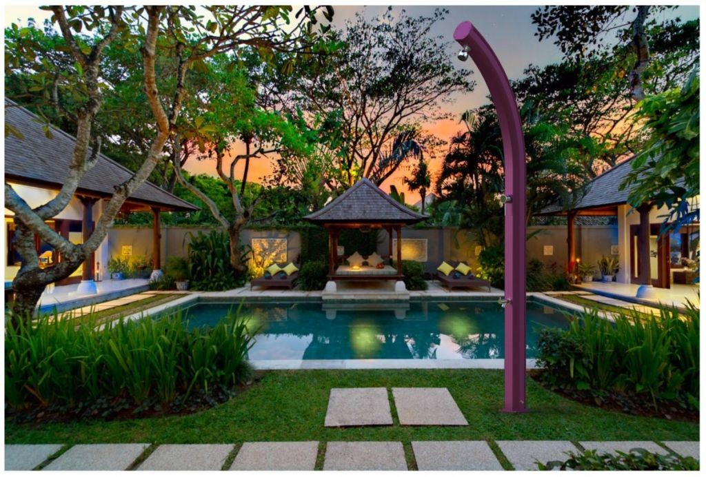 Doccia colorata piscina e giardino jolly 25l miscelatore for Piscina jolly